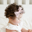 lace bow on baby toddler girl gift shower accessories headband clip