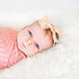 baby photos accessories desert dots swaddle harper bow village baby