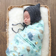 Extra Soft Stretchy Knit Swaddle Blanket: Outdoor Adventure