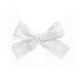 Village Baby White Lace Charlotte Bow little girl clip