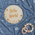 hello word starry dreams sign and swaddle with baby rattle