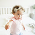 Toddler with cream lace bow Millie headband cute accessory