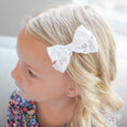 Cute Bow Accessory for little girl: Village Baby white Charlotte Bow