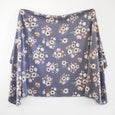 Extra Soft Stretchy Knit Swaddle Blanket: Midnight Garden