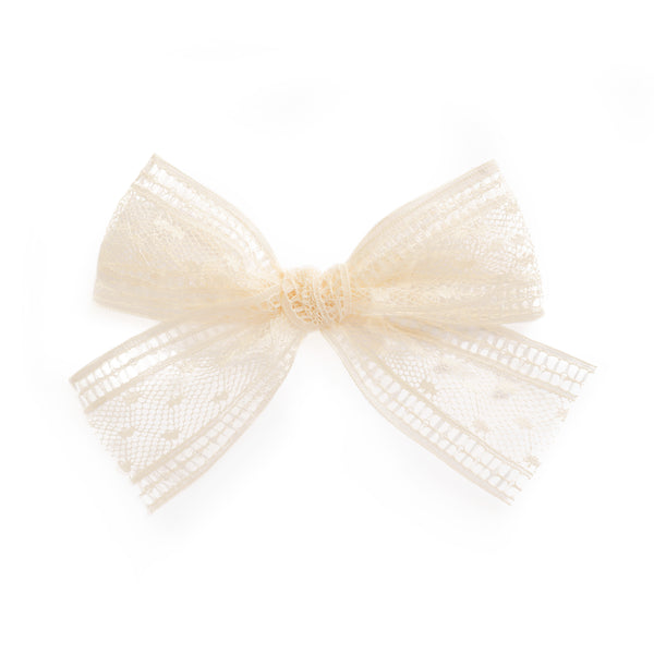 Village Baby Cream Millie Lace hair clip for babies and girls