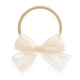 Village Baby Cream Millie Lace hair stretch nylon headband for babies and girls