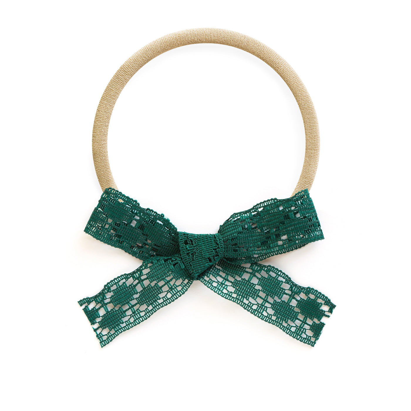 best baby headband bows forest emerald dark green lace by village baby