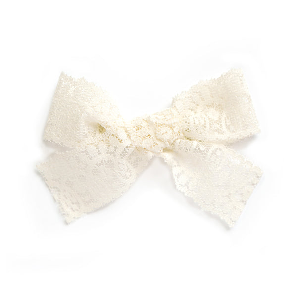 ivory lace delicate beautiful bow for baby toddler and little girls