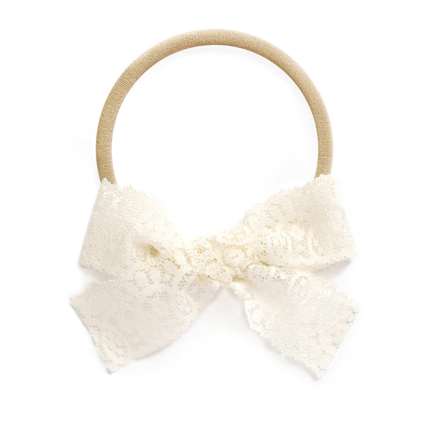 village baby sadie white ivory lace headband stretchy soft cute