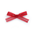 red lace scarlett little girl bow cute modern gift photo accessory