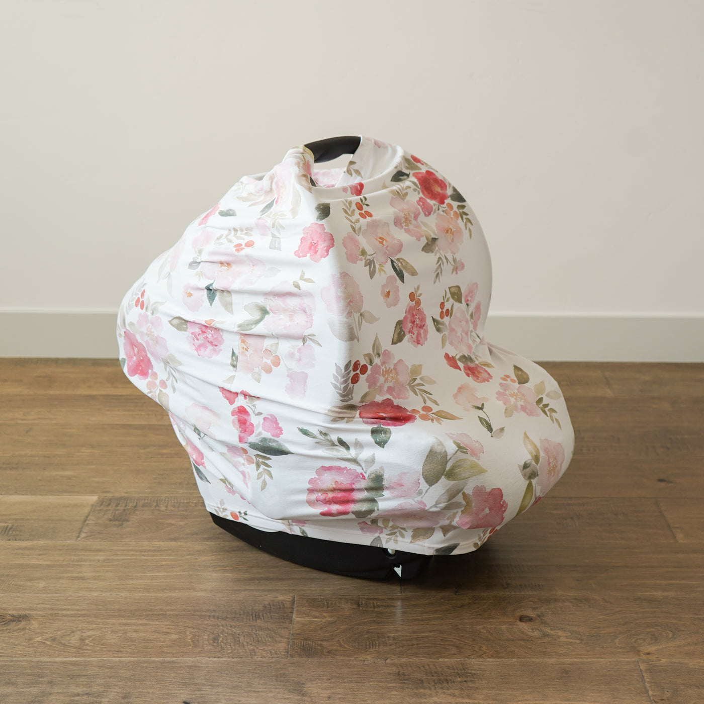 Extra Soft and Stretchy Nursing and Carseat Cover: Painted Petals