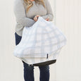 Extra Soft and Stretchy Nursing and Carseat Cover: French Gingham