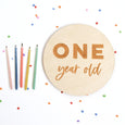 One Year Old Sign: Bold Script