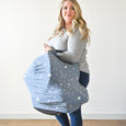 Extra Soft and Stretchy Nursing and Carseat Cover: Starry Dreams