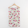 Extra Soft Stretchy Knit Swaddle Blanket: Fuchsia Florals
