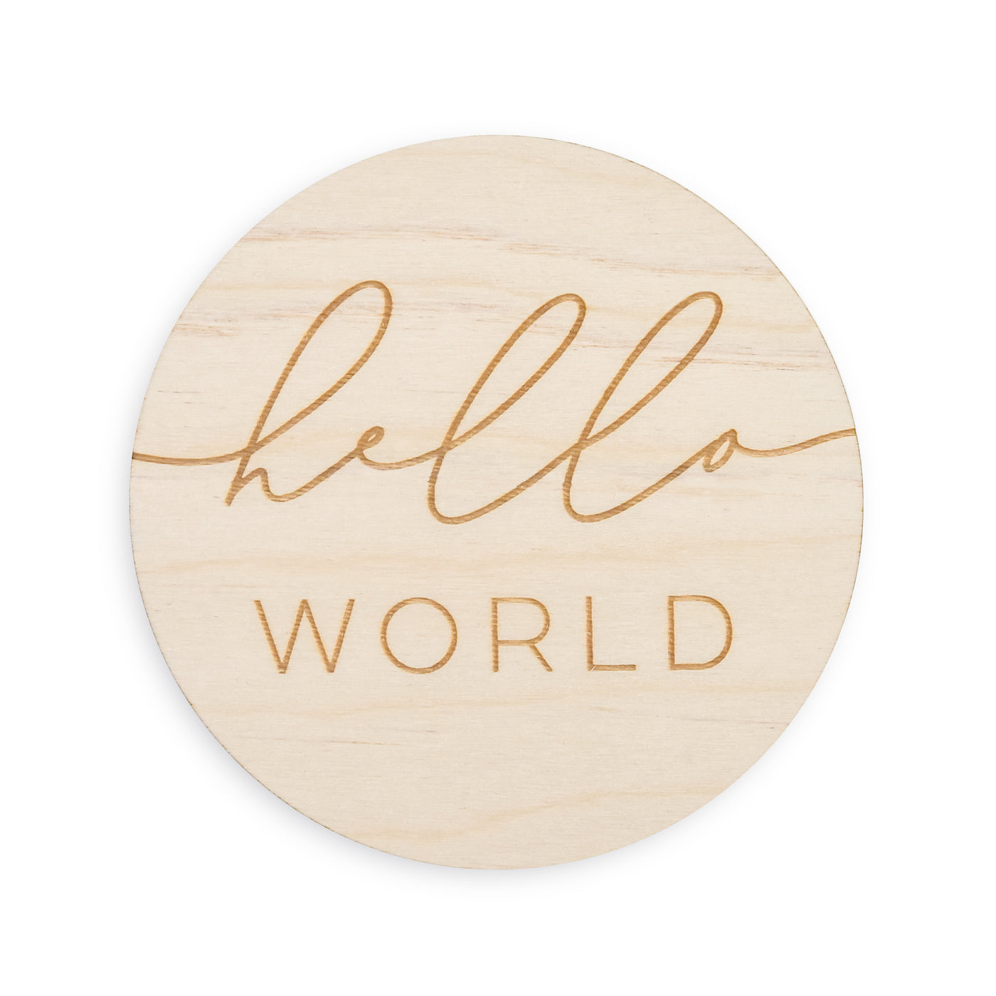 village baby hello world word sign