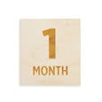 wood square 1 month sign