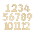 numbers made of wood one through twelve for village baby milestone signs