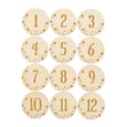 set of 12 monthly baby milestone signs with stars decoration on edges