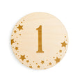number 1 sign for starry dreams monthly milestone set of 12 discs gift village baby