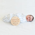 fill in your own baby birth weight and length custom wood name sign