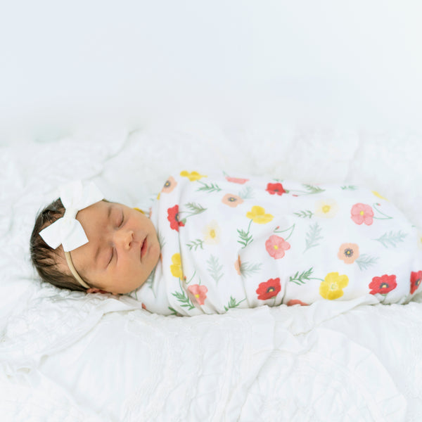 Playful Poppies Swaddle