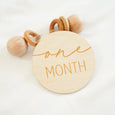 one month baby milestone rattle toy