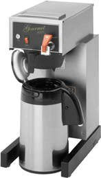 "Bloomfield 8782AF Gourmet 1000 Automatic Airpot Brewer, Pour-Over Option, Faucet, 17"" Depth, 10"" Width, 21 1/2"" Height"