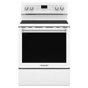 KITCHENAID KFEG500EWH 6.2 cu. ft. Aqualift Self-Clean, Warm Zone, True Convection, Max Capacity Rack, 2 Integrated Handle Racks, Ss Trim