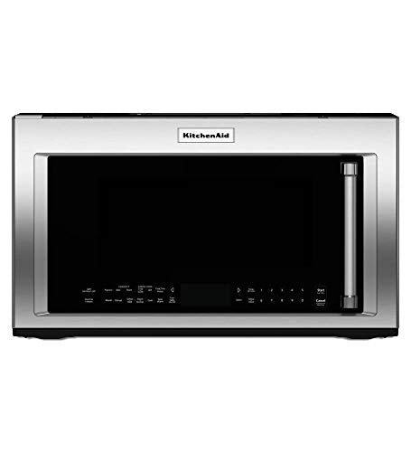 Stainless Steel Kitchenaid 1200-watt Convection Microwave With H... (Renewed)