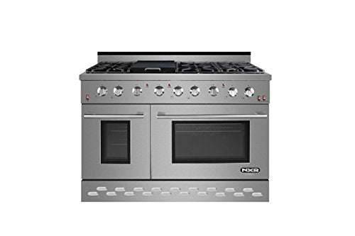 "NXR SC4811 48"" 7.2 cu.ft. Professional Style Gas Range with Convection Oven, Stainless Steel"