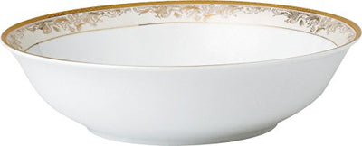 Lorren Home Trends 57 Piece 'Chloe' Bone China Dinnerware Set (Service for 8 People), Gold