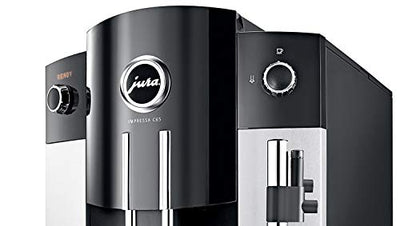 Jura 15068 IMPRESSA C65 Automatic Coffee Machine, Platinum Includes Jura Milk Container, Care Cartridge, Decalcifying Tablets and Set of Ceramic Cups and Saucers