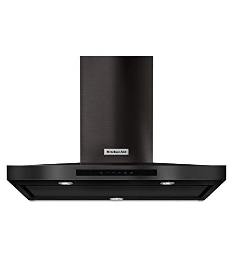 KitchenAid 36 in. Wall Mount Canopy Range Hood in Black Stainless
