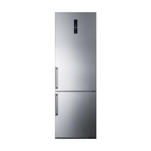 "Summit FFBF249SS 24"" Counter Depth ENERGY STAR Bottom Freezer Refrigerator with Digital Control Panel, Stainless Steel"
