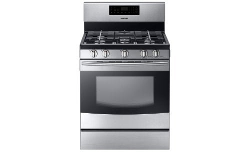 Samsung NX58F5500SS Stainless Steel Freestanding Gas Range, 5.8 Cubic Feet