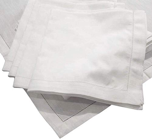 American Pillowcase Egyptian Cotton Hemstitch Dinner Napkins, Super Value Bulk Pack of 300, Off White