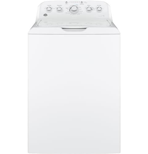 GE GTW460ASJWW Top Loading Washer with Stainless Steel Basket, 4.2 Cu. Ft. Capacity, 14 Cycles, White,
