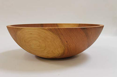 17 Inch Solid Cherry Wood Salad Bowl - Holland Bowl Mill