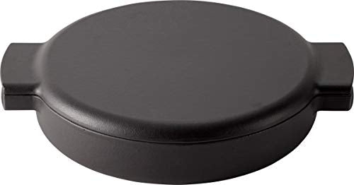 Made in Japan ovject Enameled Cast Iron Pan - 2 Handle [23cm] (Black)