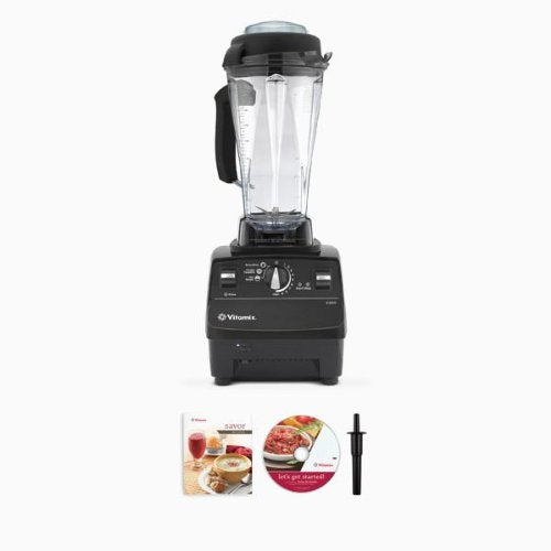 Vitamix 6300 Super Package with 64oz & 32oz Dry Containers, Featuring 3 Pre-Programmed Settings, Variable Speed Control, and Pulse Function. Includes Savor Recipes Book, DVD and Spatula. 7 Year Full Warranty. (BLACK)
