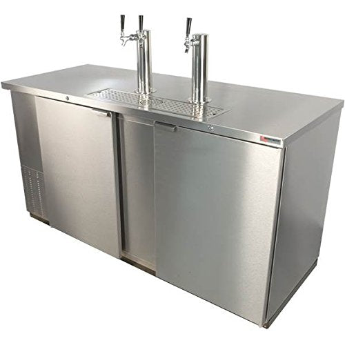 Direct Draw 3 Keg Refrigerator in Stainless Steel