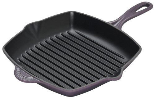 Le Creuset Enameled Cast-Iron 10-1/4-Inch Square Skillet Grill, Cassis