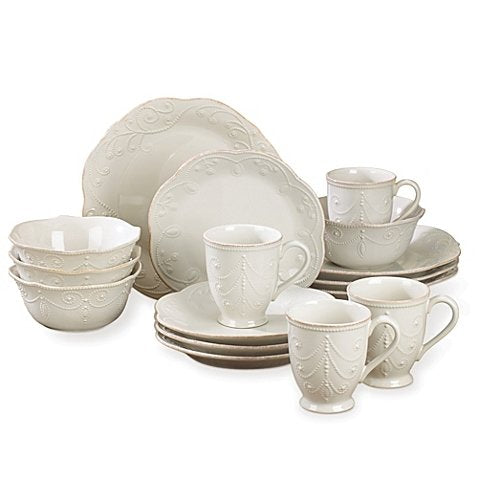 Lenox French Perle 16-Piece Dinnerware Set in White