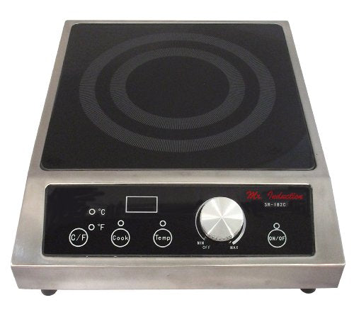 Mr. Induction SR-182C 1800W Commercial Induction (Countertop), 12.6 x 15.16 x 4.53 Inch, Black