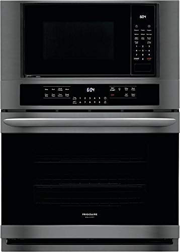 Frigidaire FGMC3066UD 30 Inch Electric Oven/Microwave Combo Double Wall Oven with 3 Oven Racks in Black Stainless Steel