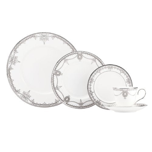 Lenox 830265 Empire Pearl 5-piece Place Setting, 4.15 LB, White