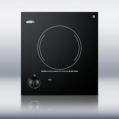 "12"" Electric Cooktop with 1 Burner"