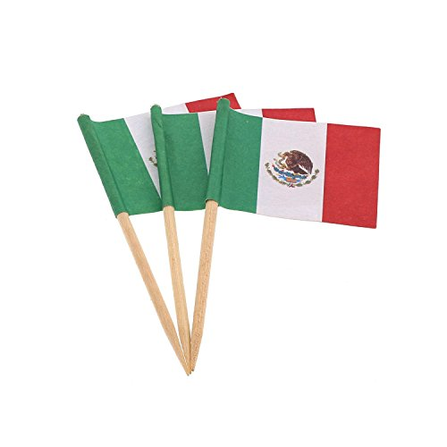 Royal Mexican Flag Picks, Case of 14,400