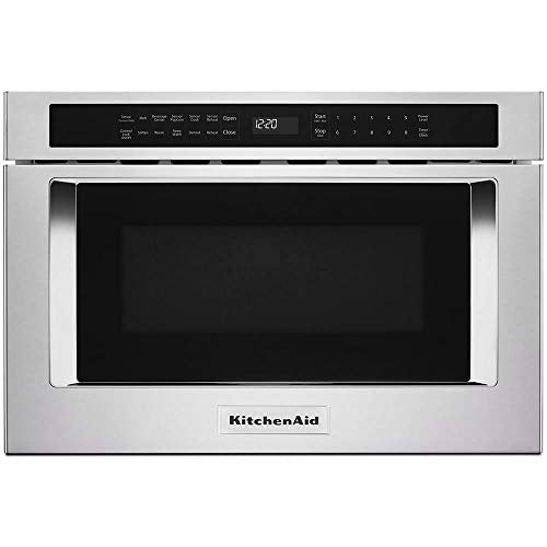 "'KitchenAid 24"" Stainless Steel Under-Counter Microwave Oven Drawer'"